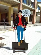 Photo: Dylan Dog realizzato dal Liceo Artistico(altezza circa 2 metri)