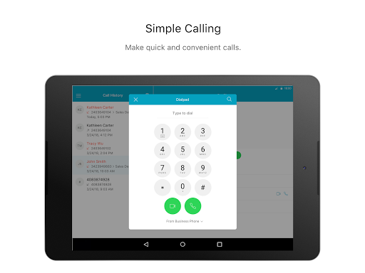 Webex Calling screenshot 3