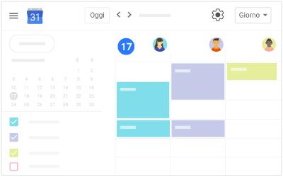 Impostare la visualizzazione calendario