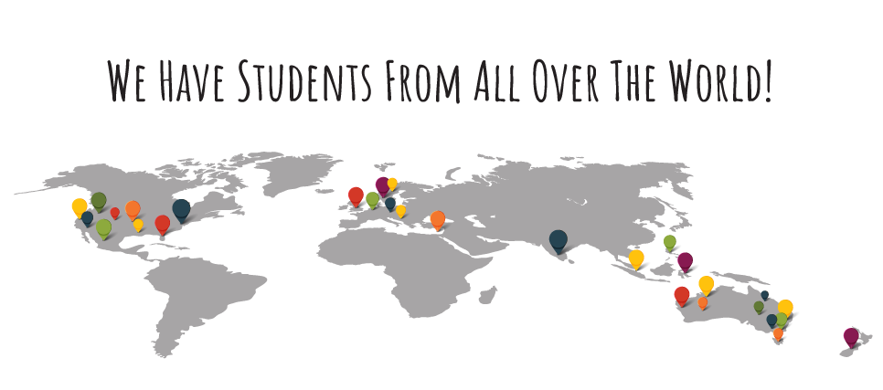We have students from all over the world