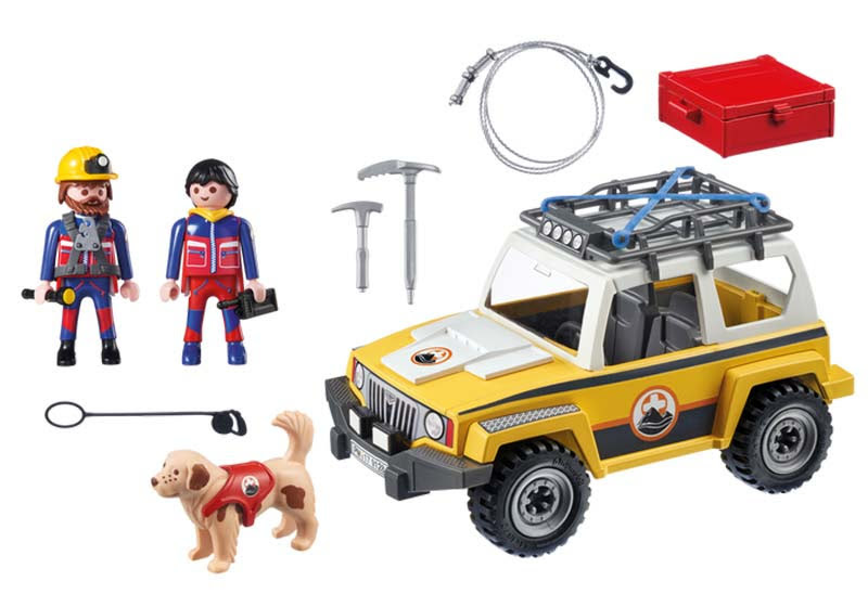 Contenido real de Playmobil® 9128 Vehículo de Rescate de Montaña