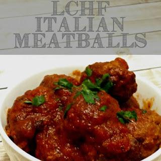 LCHF Italian Meatballs