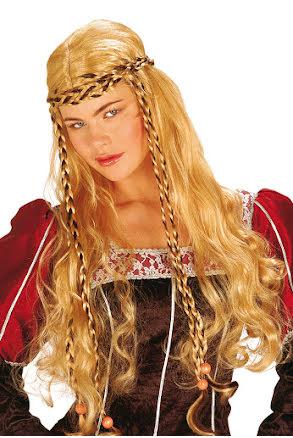 Medeltidsperuk blond, dam
