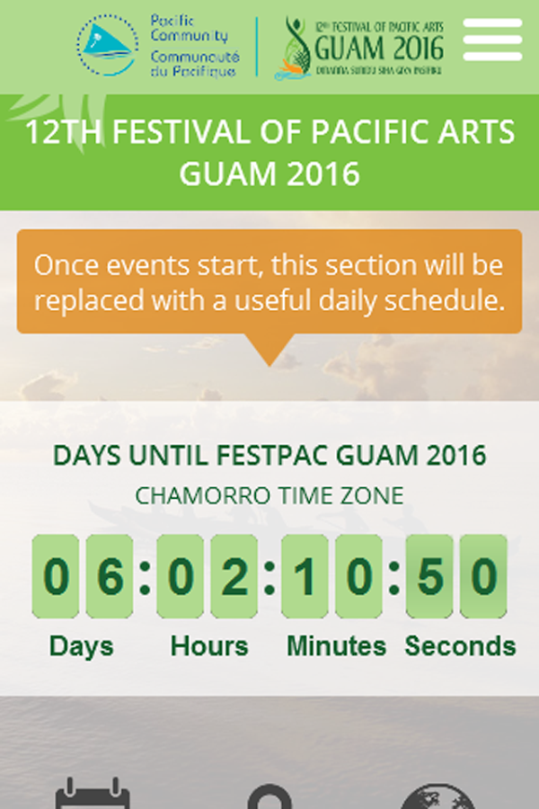 Official FestPac Guam 2016 App- screenshot
