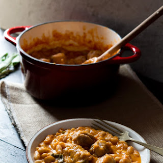 Tuscan Bean Stew with Sausages.