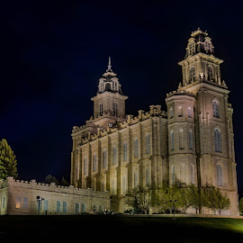 Manti Temple at  Dusk by Chad Roberts - Buildings & Architecture Places of Worship ( temple, manti, church, utah, lds, worship,  )