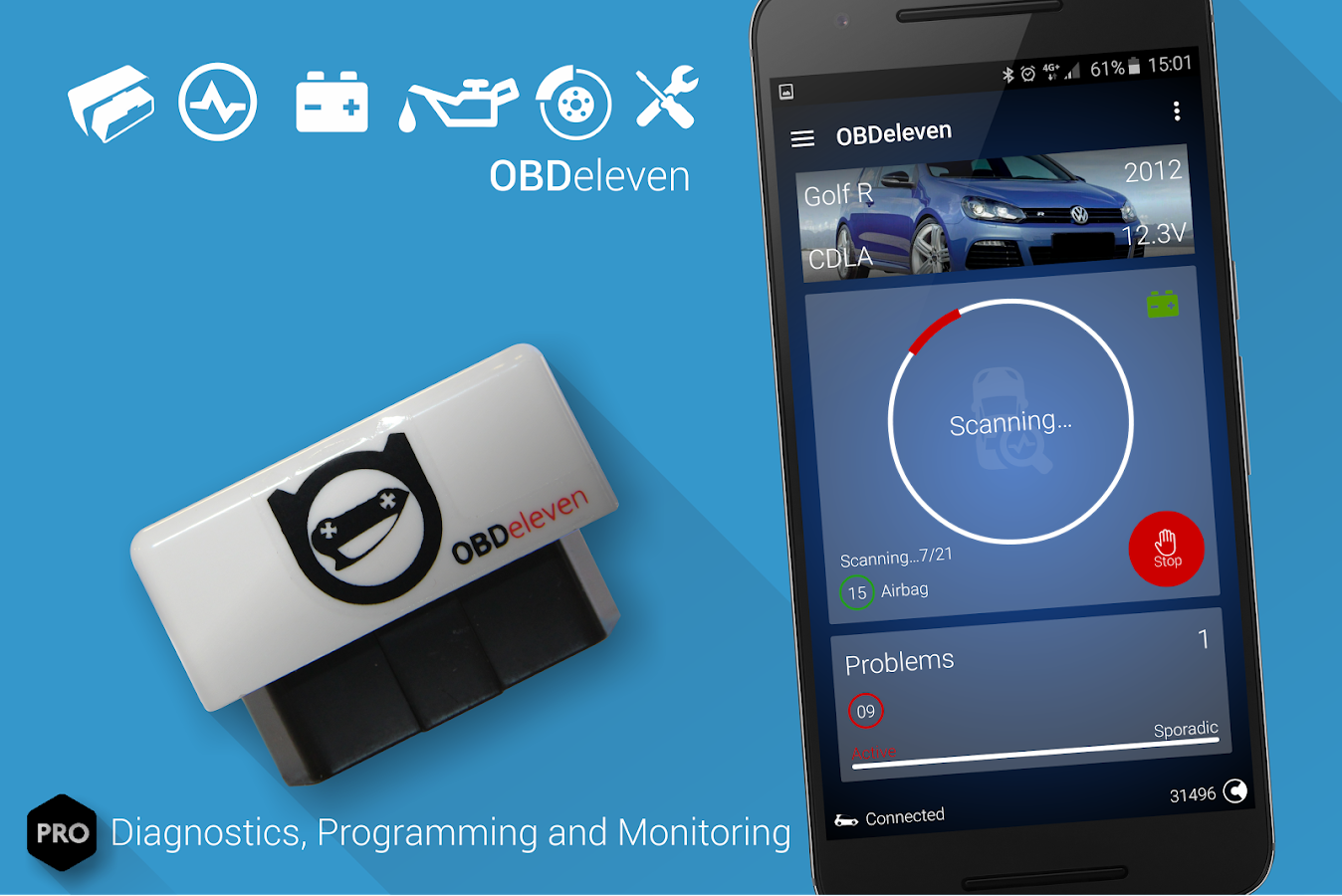 obdeleven pro car diagnostics app vag obd2 scanner android apps on google play. Black Bedroom Furniture Sets. Home Design Ideas