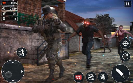 Code Triche ZOMBIE FPS 2020 - LEFT ALONE 4 DEAD : New Games APK MOD (Astuce) screenshots 1