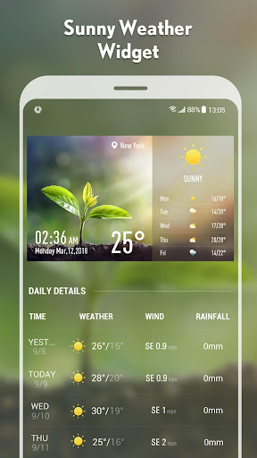 5-day Weather forecast &weather widget 10.3.5.2353 screenshots 6