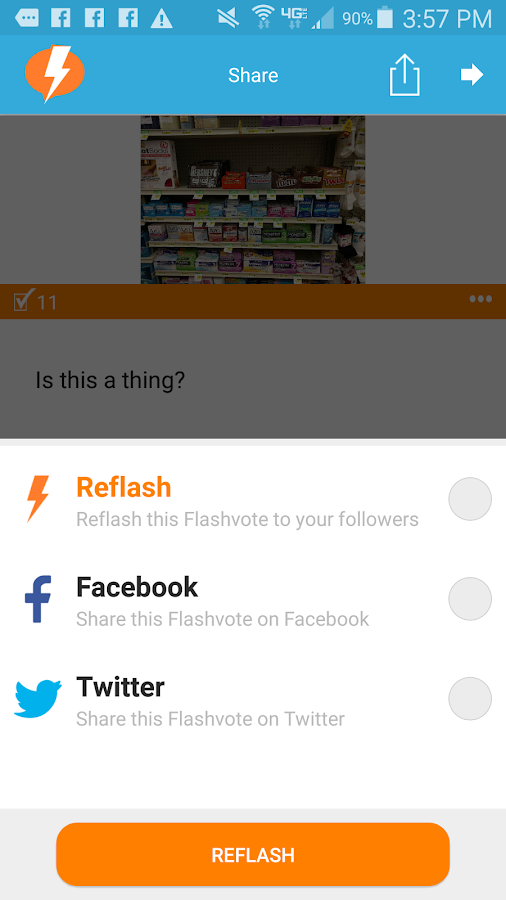 Flashvote- screenshot