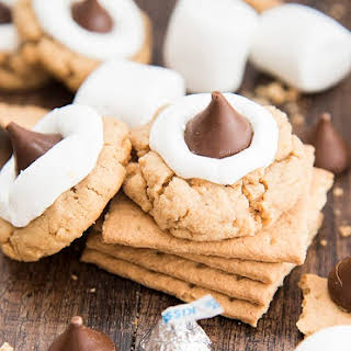Hershey Kiss Peanut Butter Smores Cookies.