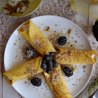 Classic Crepes with Greek Yogurt, Honey & Berries.
