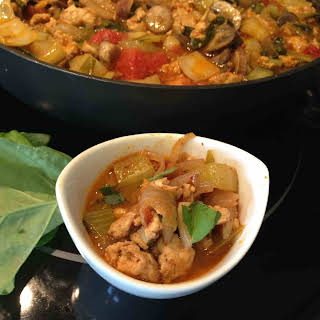 Panang Curry with Chicken and Vegetables.