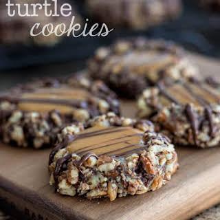 Chocolate Pecan Turtle Cookies Recipes.