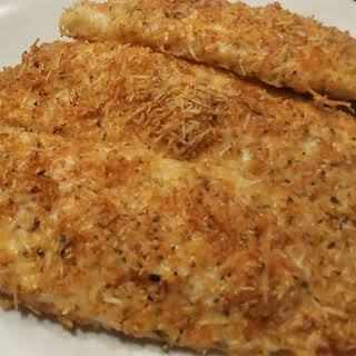 Keto Parmesan Crusted Tilapia.