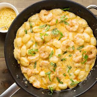 Garlic Prawns & Gnocchi in a Creamy Parmesan Sauce Recipe