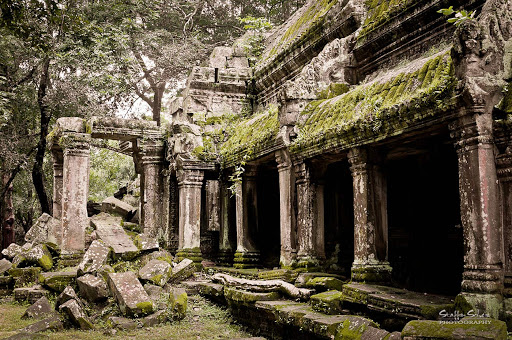 Ta-Prohm-Temple-Siem-Reap - The Ta Prohm Temple at Angkor in Siem Reap, Cambodia, was built chiefly in the 12th and 13th centuries.