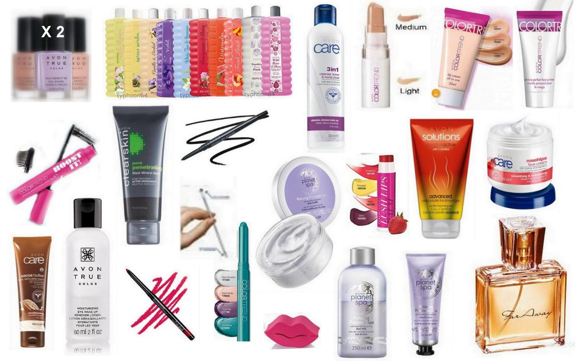 AVON: 22 Προϊόντα Μακιγιάζ & Ομορφιάς, Αρχικής Αξίας 223€ τώρα μόνο 52€