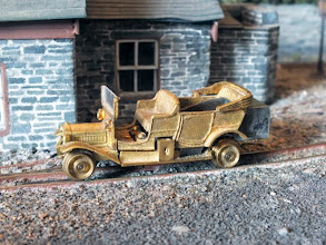 "Photo: 011 One for the heritage model fans! PD Hancock's famous pioneering Craig & Mertonford Railway of the 1950's featured a Thomas Flyer converted to a rail workcar built from an American Kemtron HO scale kit. The original kit is now scarce and difficult to find, but Rod managed to track one down through ""a well known online auction site"" and has built his model as the kitmakers intended, as a 16.5mm gauge HO scale model – will it remain thus, or will we see it one day in 9mm gauge form? ."