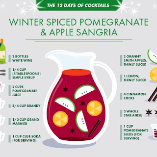Winter-Spiced Pomegranate & Apple Sangria