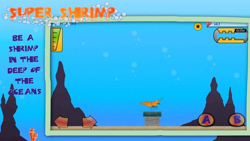 Télécharger gratuit Super Shrimp: Ocean Platformer APK MOD 1