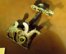 Photo: Bronze horse bit in the shape of a lion, Lorestan, western-Iran, 8th-7th century BC