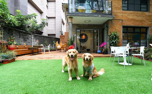 台北大安區 益生寵愛會館。百年日式老屋翻新寵物餐廳、庭園綠草皮、寵物遊戲區