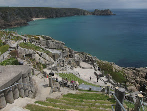 Photo: Porthcurno's Minack Theater is built right into the cliffs ...
