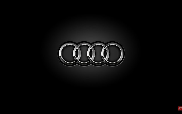 black audi. audi black theme clean logo on background