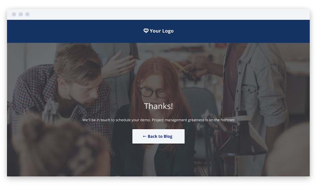 thank you page example redirect leadpages