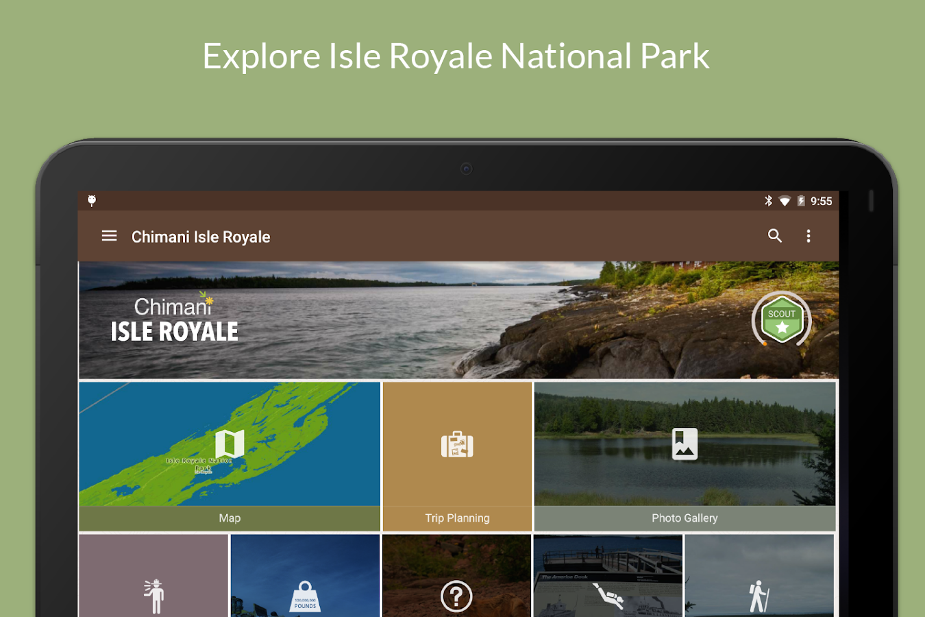 Isle Royale NP by Chimani- screenshot