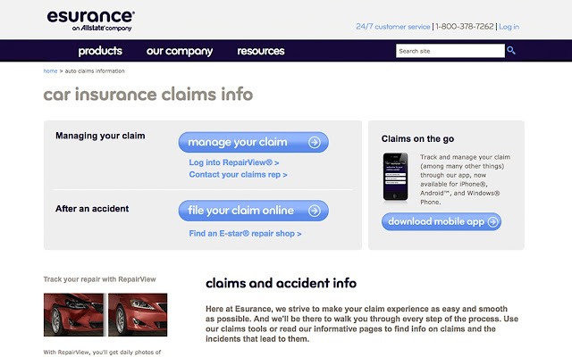 Esurance Chrome Web Store