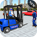 Police Cop Spooky Fork Lifter Simulator 2019 icon