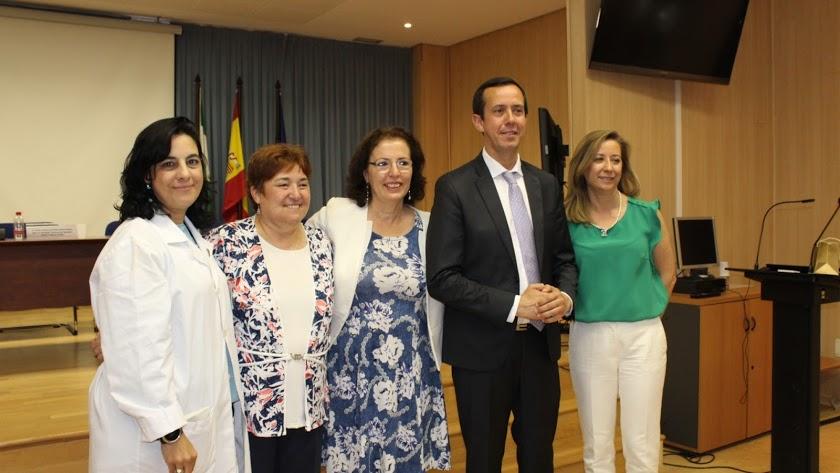 La hasta ahora gerente del área, Macarena Marín, primera por la izquierda.