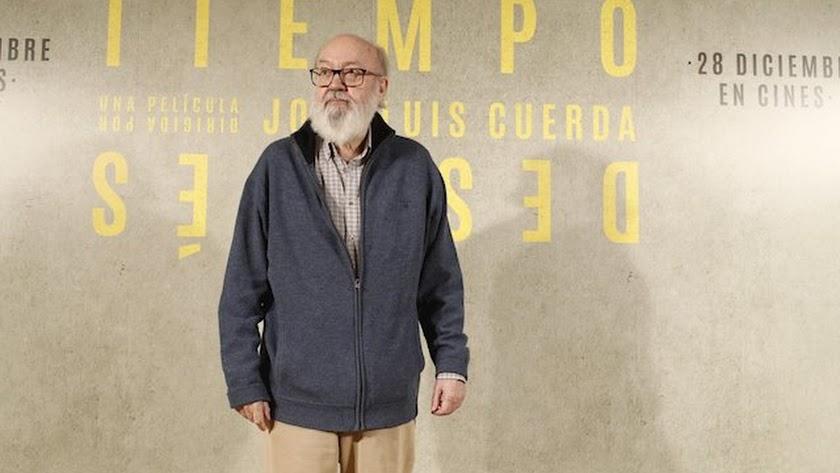 José Luis Cuerda, durante la presentación de su última película, 'Tiempo después'.