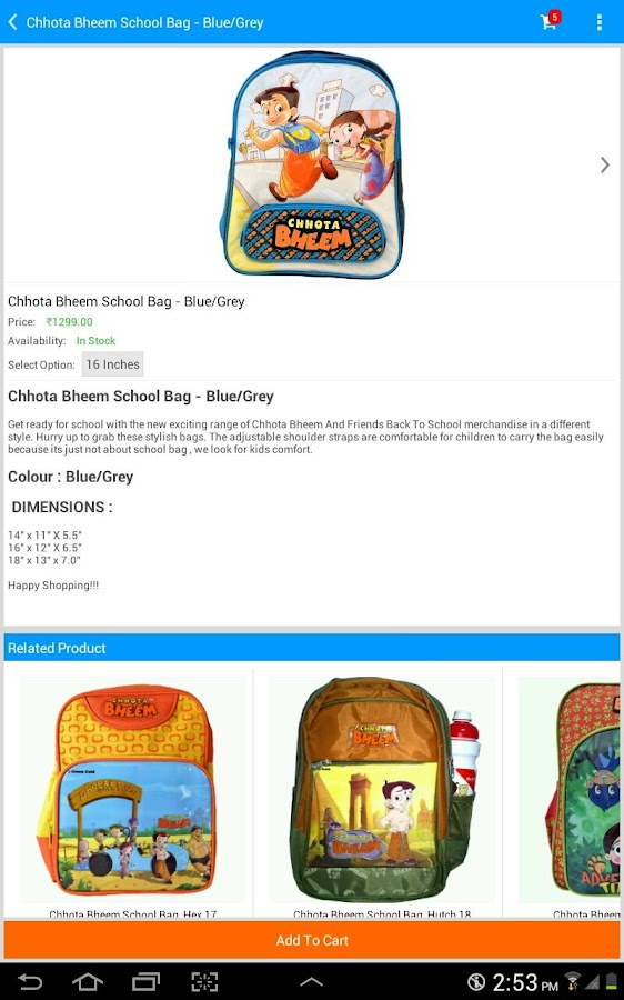 Chhota Bheem Shop- screenshot