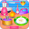 Kids learn with cooking game