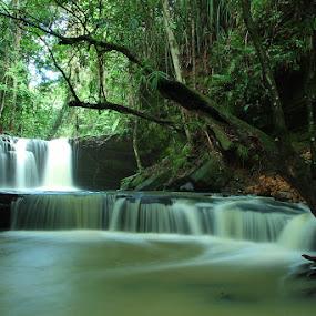 Muara Teweh Waterfall by Rifa Riza - Backgrounds Nature
