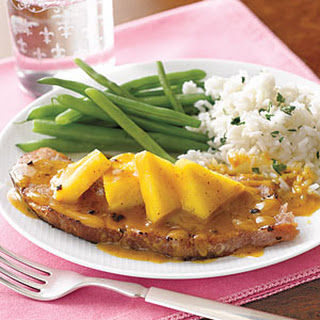 Ham Steak with Pineapple.