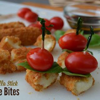 Mozzarella Stick Caprese Bites