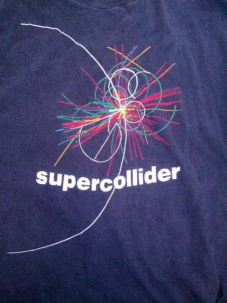 Photo: Long before the Large Hadron Collider, people were going to make a big honking collider in Texas. My dad was at a conference and got this for me shortly before the project was cancelled.