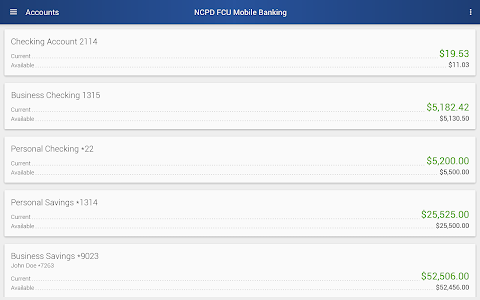 NCPD FCU Mobile Banking screenshot 5