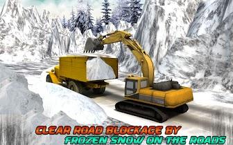 Winter Snow Rescue Excavator - screenshot thumbnail 09