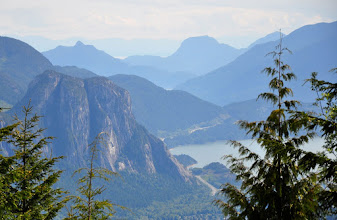 Photo: In June 2011 I ended up in Squamish at the same time that +David Howes and his wife were travelling through. So we met up and drove up some logging roads into the mountains in search of views, snow, and adventure. We found all 3. Here's a photo I took of the Stawamus Chief to substantiate some of the above ;)