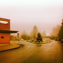 Photo: Foggy morning at the Ridge Meadows Hospital (Emergency) in Maple Ridge #intercer #tree #trees #hospital #emergency #fog #foggy lights #parking #city #winter #urban #design #town #britishcolumbia #canada #beautiful #mapleridge #pittmeadows #green #grey #road #sky - via Instagram, http://instagr.am/p/Uom2Hgpfph/