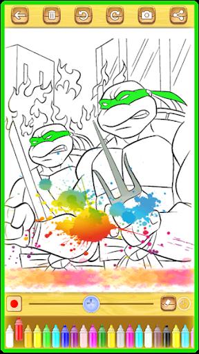 Ninja Hero Turtle Coloring Book apkmind screenshots 5