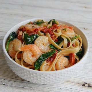 Shrimp Scampi with Sun-Dried Tomatoes.