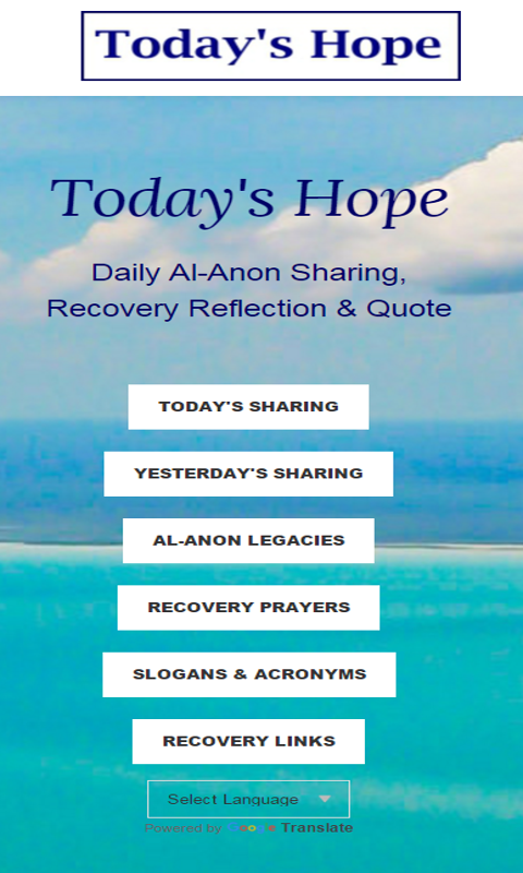 Today's Hope Al-Anon Sharings- screenshot