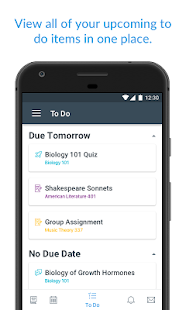 Canvas Student Screenshot