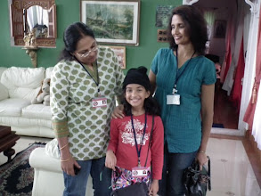 Photo: Malvika goes looking for Sudha and Sheila Aunty!